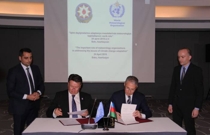 Azerbaijan, World Meteorological Organization ink MoU