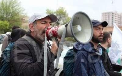 عمل الاحتجاج ضد ساركسيان في يريفان