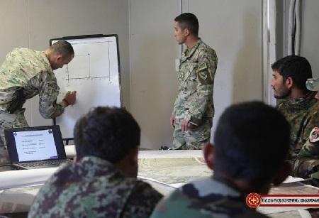 Georgian peacekeepers conduct training in Afghanistan