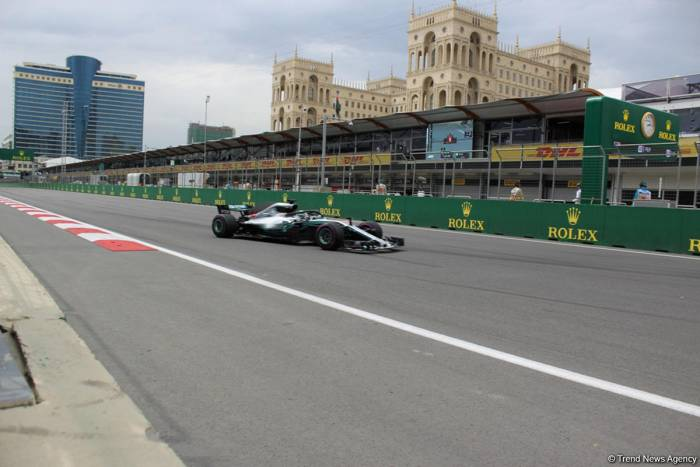 F1® Qualifying Session of Formula 1 SOCAR Azerbaijan Grand Prix 2019 ends