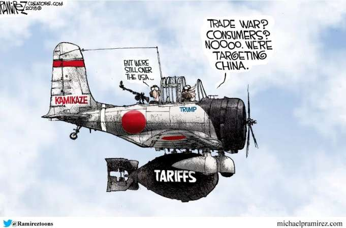 Trump off target in trade war - CARTOON