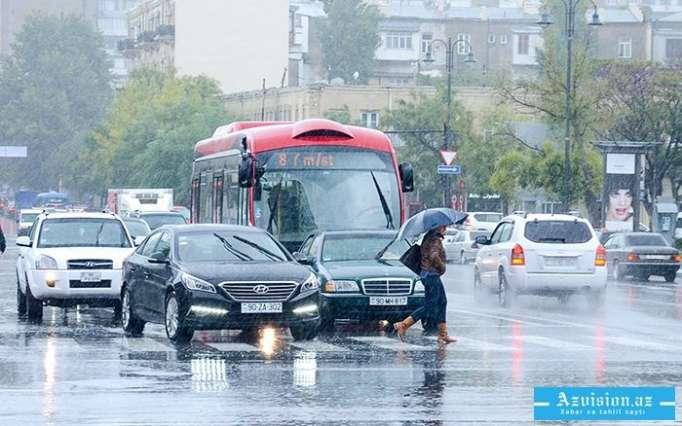 Yağış, külək gözlənilir-