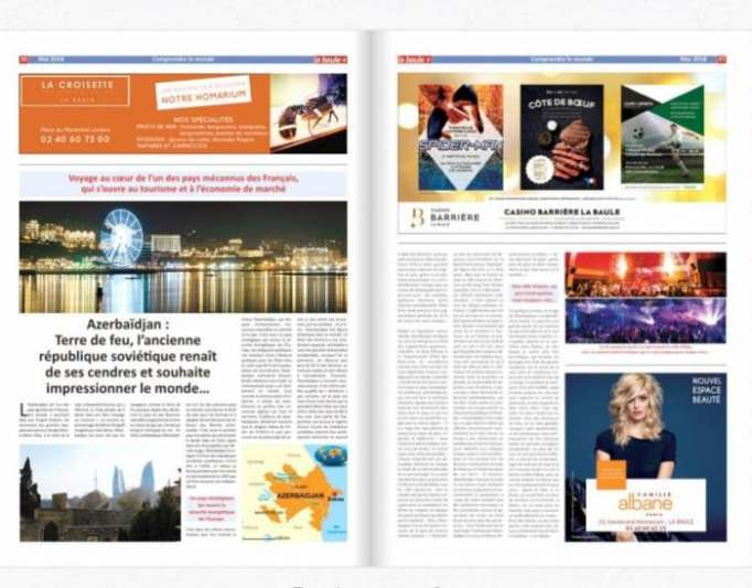 Le journal français «La Baule+» publie un reportage sur l'Azerbaïdjan