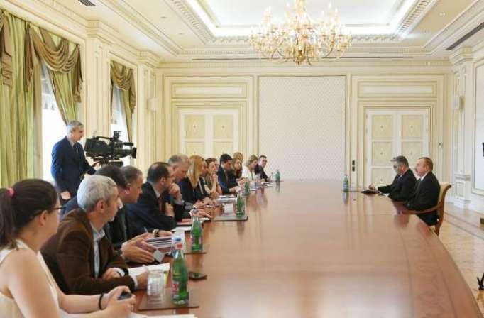 Prezident Avropa İttifaqının nümayəndələrini qəbul edib