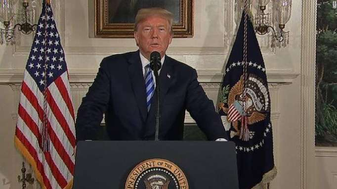 """Trump announces decision to """"withdraw"""" from Iran nuclear deal"""