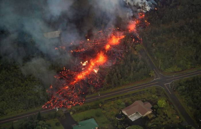Hawaii volcano erupts again as new fissures appear in ground