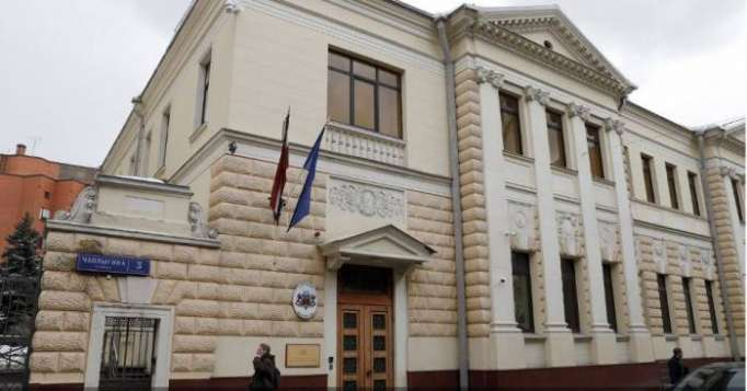 "Latvian embassy in Moscow ""attacked"" - VIDEO"