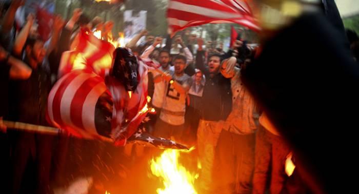 Hundreds protest in Tehran against Trump