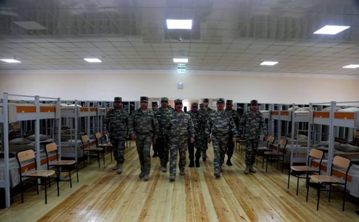 Azerbaijani defense minister inaugurates several military facilities