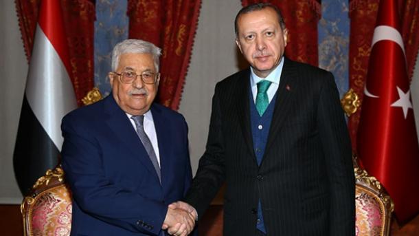 Erdoğan telefoniert mit Abbas
