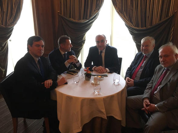 Azerbaijani FM, OSCE MG co-chairs discussing Karabakh conflict
