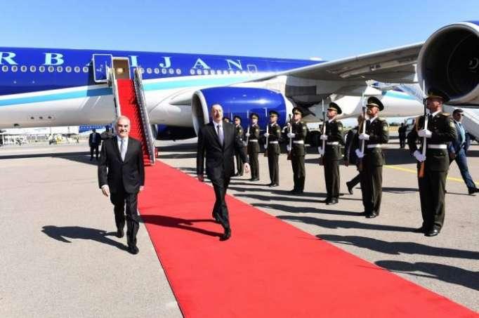 Ilham Aliyev est arrivéen République autonome du Nakhtchivan