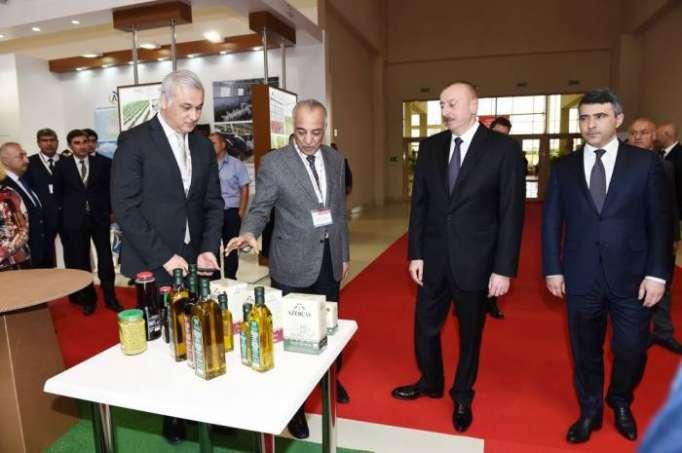 Prezident Bakıda keçirilən beynəlxalq sərgidə