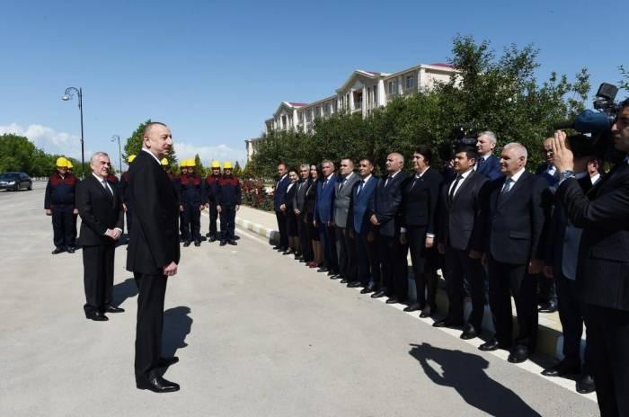 Ilham Aliyev: Am Ende des Nord-Süd-Projekts wird die drohende Blockade von Nachitschewan überwunden