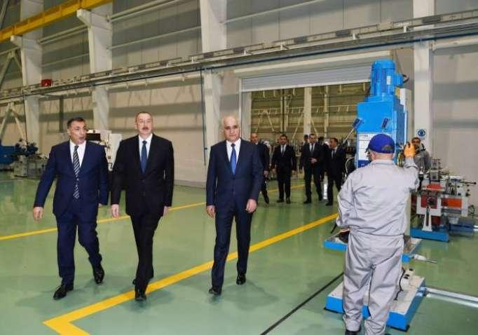 İlham Əliyev yeni zavodun açılışında - Yenilənib (FOTOLAR)