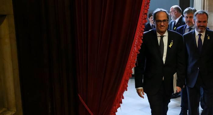 Torra suspende la toma de posesión del Gobierno catalán