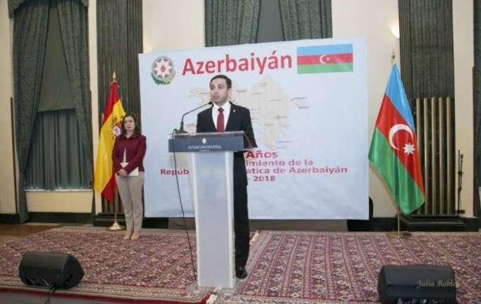 Reception marking Azerbaijan Democratic Republic`s centenary held in Spain