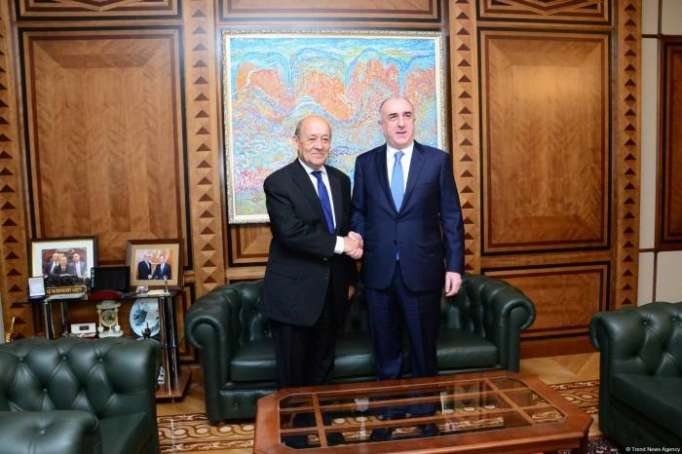 Azerbaijani FM receives his French counterpart - UPDATED