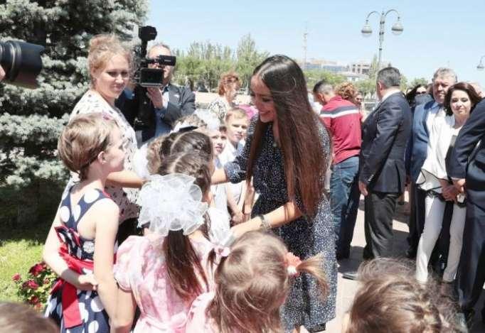 Leyla Əliyeva Həştərxanda açılışa qatıldı - FOTOLAR
