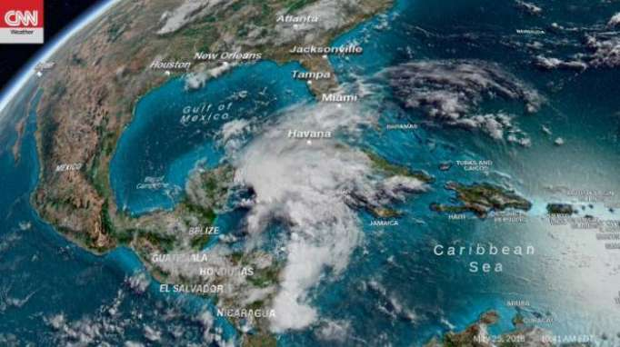 Tropical storm Alberto puts US states on alert