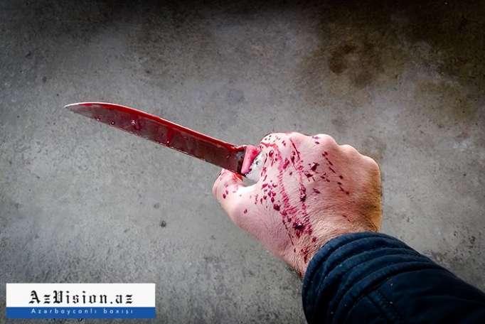 Şəmkir sakini bıçaqlanıb