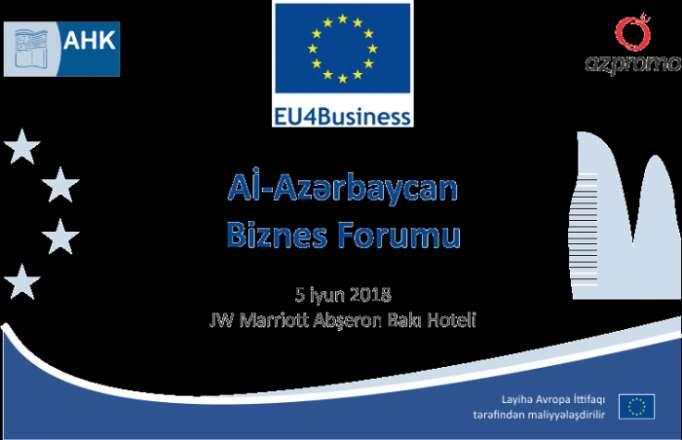 Bakıda Aİ-Azərbaycan Biznes Forumu keçiriləcək