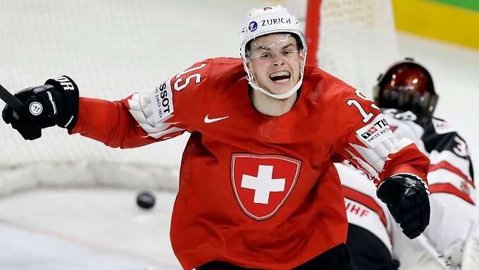Schweiz bezwingt Eishockey-Riesen Kanada