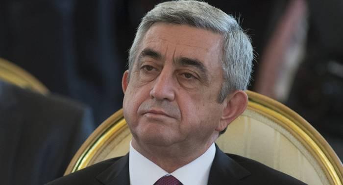 Les Etats-Unis imposent des sanctions contre Serge Sarkissian