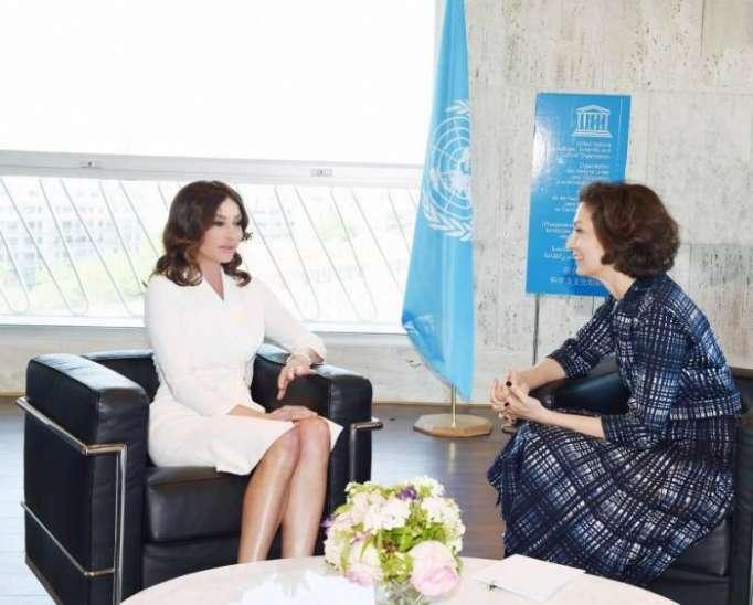 Azerbaijan's First VP Mehriban Aliyeva meets UNESCO director general