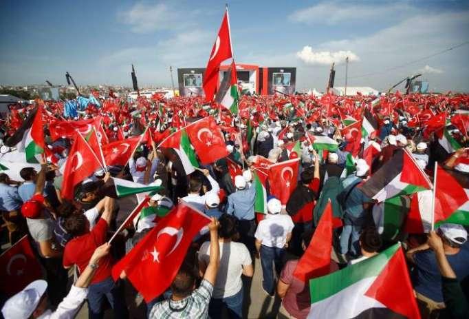 Gaza:Des dizaines de milliers de manifestants à Istanbul