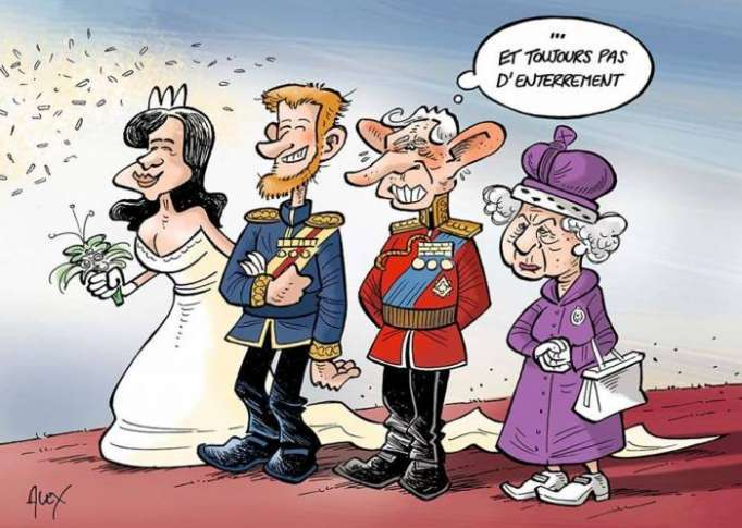 Jour J à Windsor: le prince Harry épouse Meghan Markle - CARICATURE