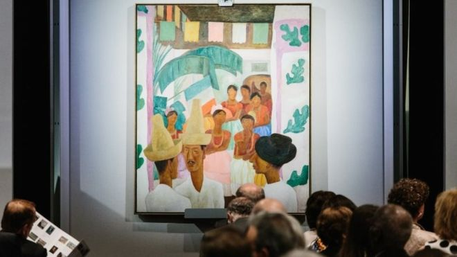 Diego Rivera painting beats Frida Kahlo