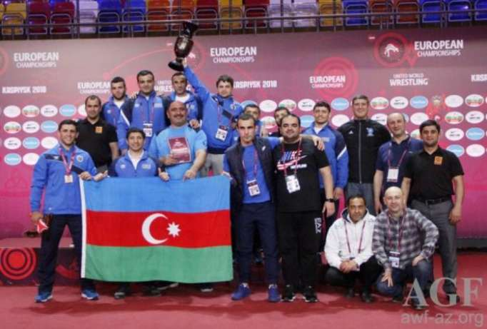 Azerbaijani Greco-Roman wrestling team rank 3rd in European championship medal table