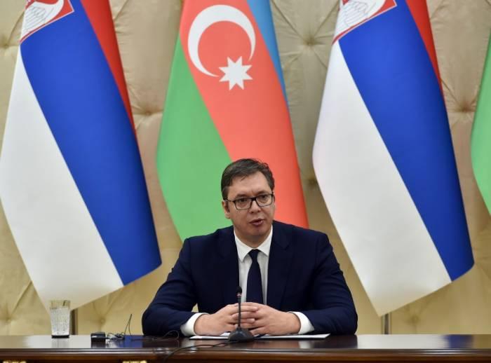 """الرئيس الصربي:""""في باكو،نشعر بأننا في منزل أصدقائنا"""""""