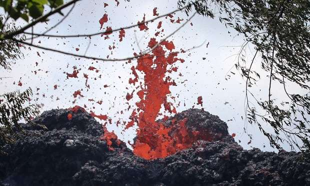 New fissure in Hawaii volcano propels lava four storeys high