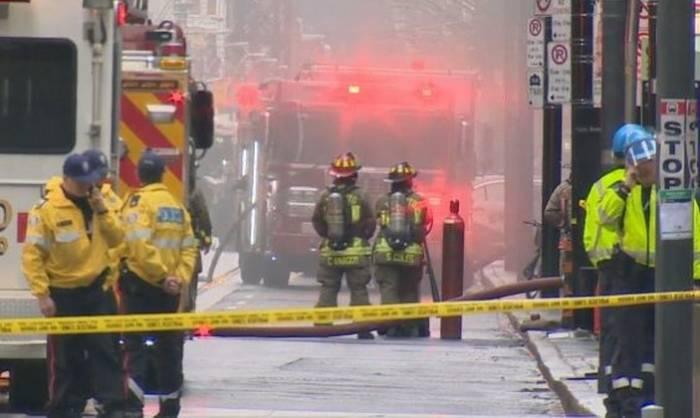 Kanadada güclü partlayış - 15 yaralı (VİDEO)