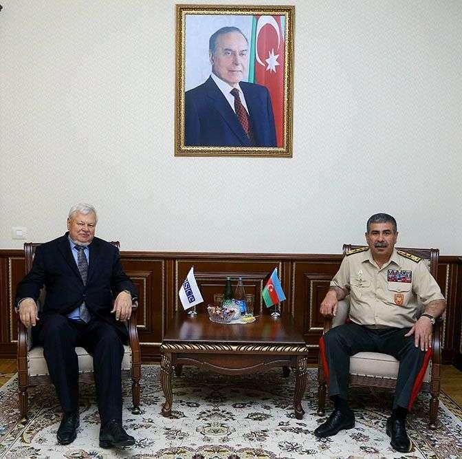 Azerbaijani defense minister meets personal representative of OSCE Chairman-in-Office