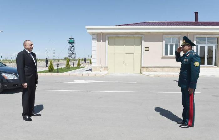 President Aliyev views border guard unit in Nakhchivan - PHOTOS
