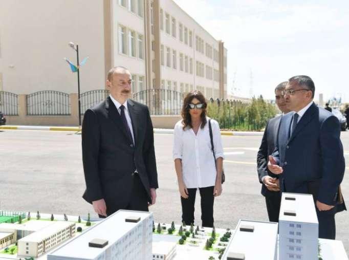 """Prezident və xanımı """"Qobu Park"""" kompleksinin açılışında - (FOTOLAR)"""