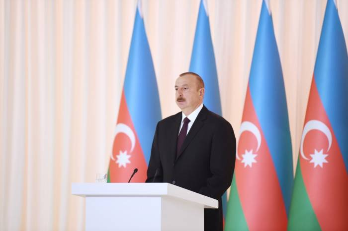 Ilham Aliyev makes speech remarks at the official reception on the occasion of the 100th anniversary of ADR, UPDATED