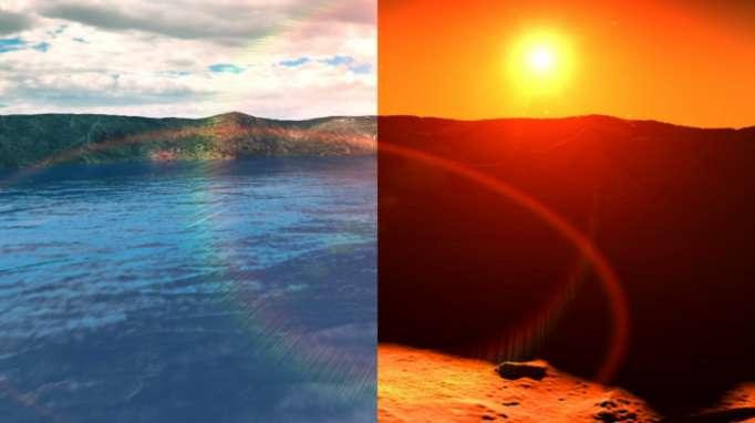 Seasonal changes in exoplanet