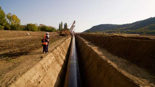 Over 91% of TAP pipes lowered into ground in Greece, Albania