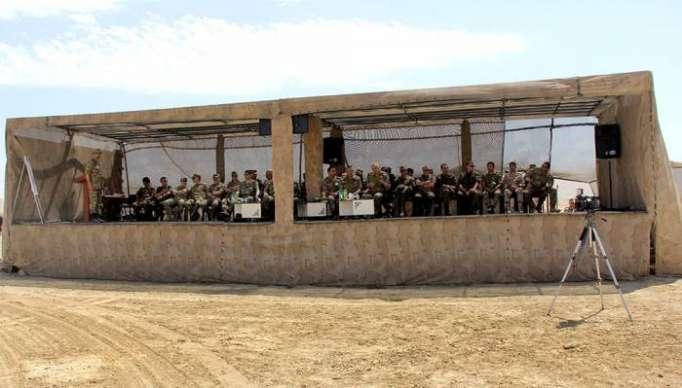 NATO generalı ordumuzun təlimini izlədi -