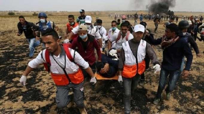 Qəzzada toqquşmalar: 1 ölü, 448 yaralı