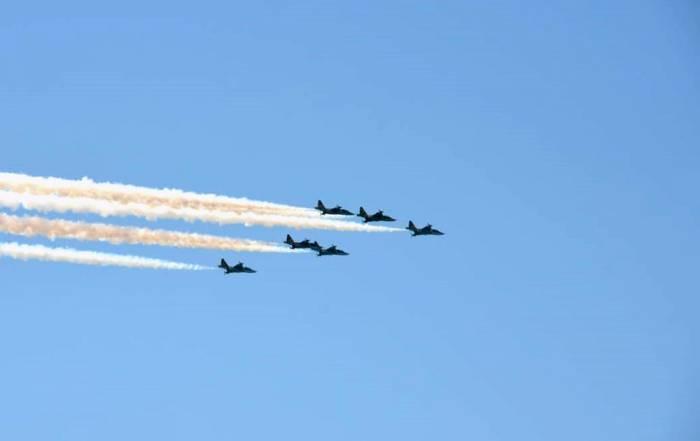 Hərbi Hava Qüvvələri parada hazırlıq uçuşları keçirir