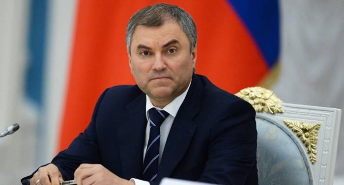 Rusiya Dövlət Dumasının sədri Bakıya gəlir