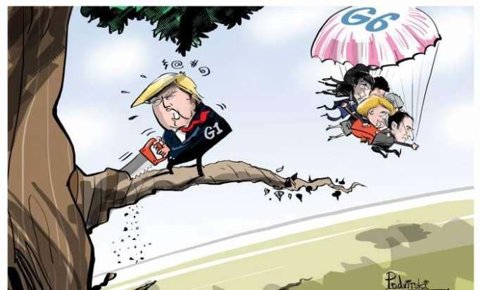 Donald Trump at G7 - CARTOON