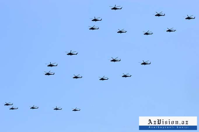 Helikopterlərimiz 50 km-dək məsafədə hədəfləri məhv edə bilər