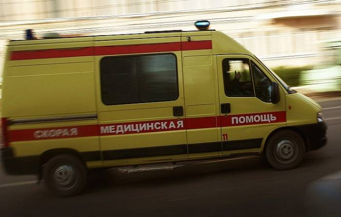 Five people taken to hospital after taxi cab drove into crowd in central Moscow