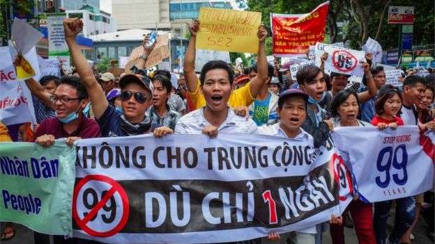 Vietnam protesters clash with police over new economic zones